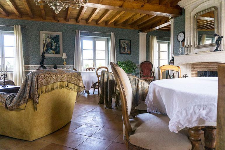 chateau du payre, burdeos, cama y desayuno, cama y desayuno burdeos, vinos de burdeos,valerie labrousse, el comedor