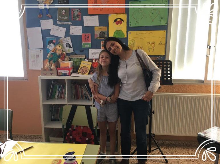La Caribay amb la seva filla Fátima