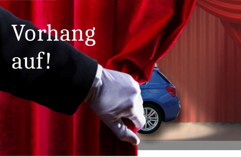 der Vorhang für die neuen Autos öffnet sich