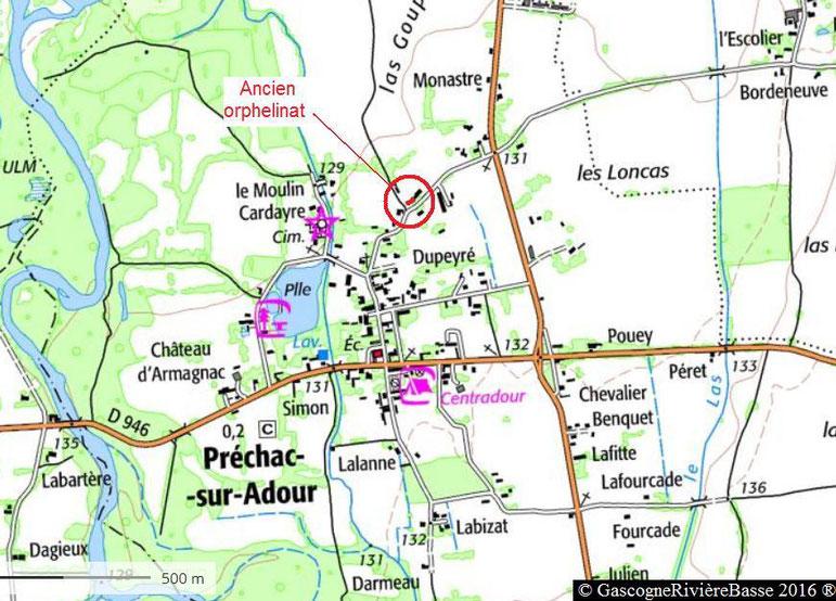 Orphelinat Couvent école libre Préchac sur Adour