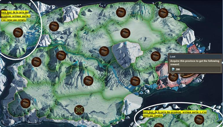 Carte des provinces de l'ère arctique partie IV