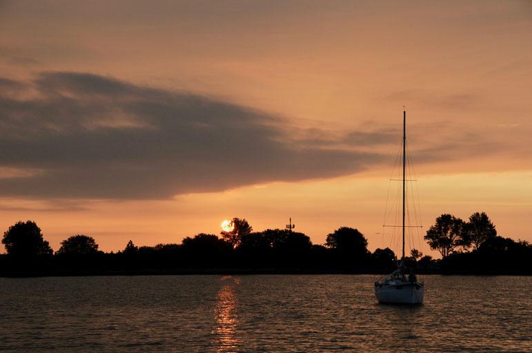 Sonnenaufgang im Wormshöfter Noor bei Maasholm