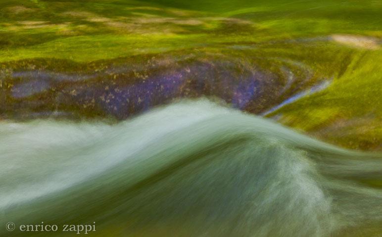 I colori del torrente nel bosco.
