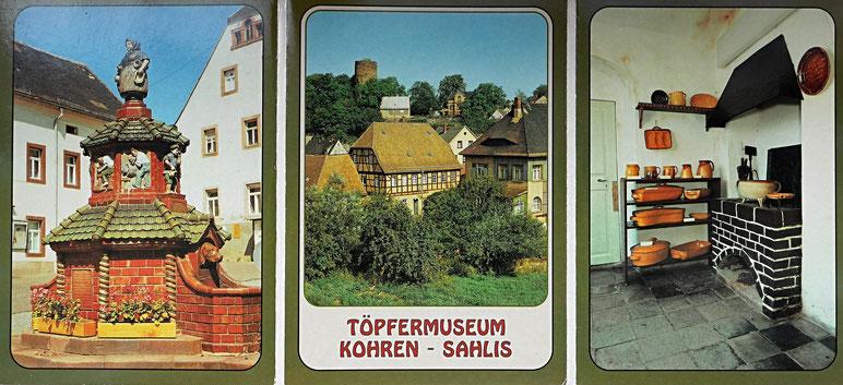Fotomappe Ansichtskarten Kohren - Sahlis Töpfermuseum