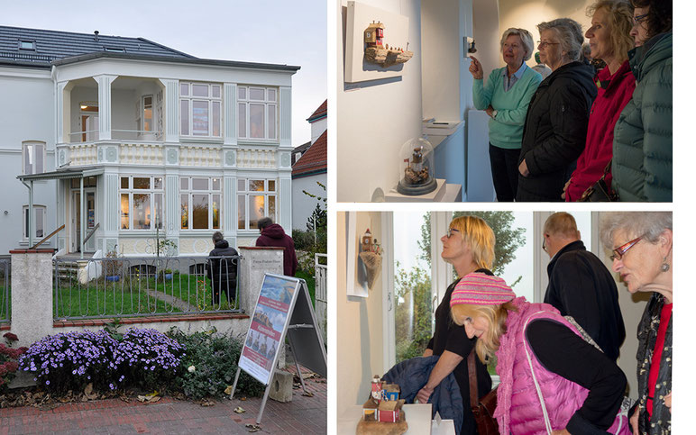 Christine Grandt, Astrid Krömer, Freya-Frahm-Haus, Laboe, Küstenstreifen, Ausstellung, Treibholzkunst