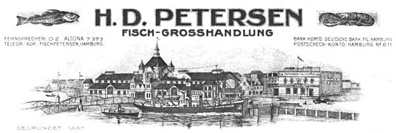 H.D.Petersen Fischgroßhandel  - St. Pauli Fischmarkt 19 - 20359 Hamburg