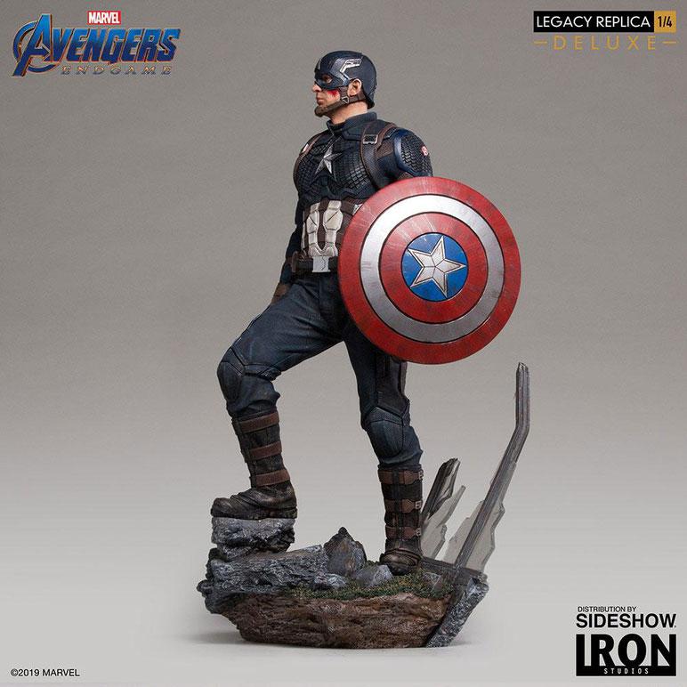 Captain America Deluxe Version 1/4 Marvel Avengers: Endgame Legacy Replica Statue 59cm Iron Studios