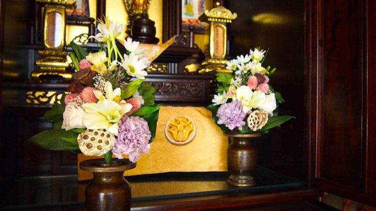 プリザーブドフラワー,仏花,お盆
