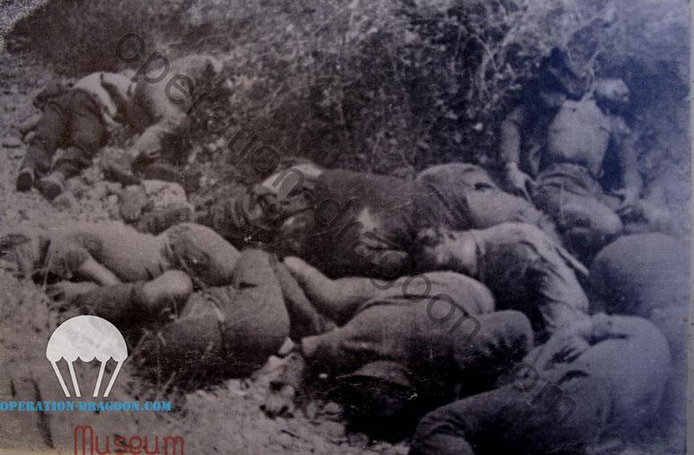 Unique photo prise lors de la découverte des corps dans le vallon des Bayles à Saint Martin de Brôme.