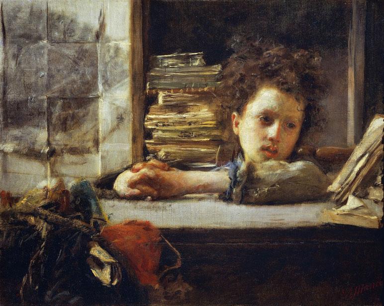 "Antonio Mancini, ""Lo studio"" (ca. 1875)"