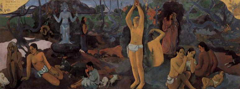 """P. Gauguin, """"Da dove veniamo? Chi siamo? Dove andiamo?"""" (1897-1898)"""