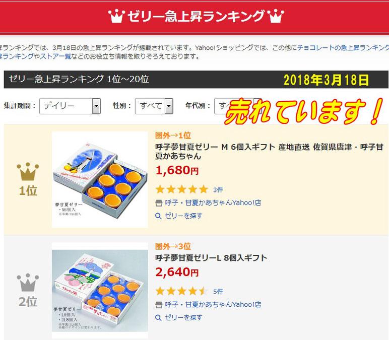 ゼリー人気急上昇ランキング1位  2018年3月18日・佐賀県唐津・呼子( 加部島)甘夏かあちゃん