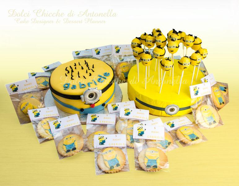 minions-torte-biscotti-cake pops-feste-bimbi-dolci-la spezia-liguria
