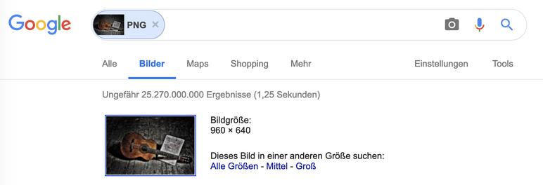 Google Bildersuche spuckt extrem viele Ergebnisse aus. Zu viele !!!