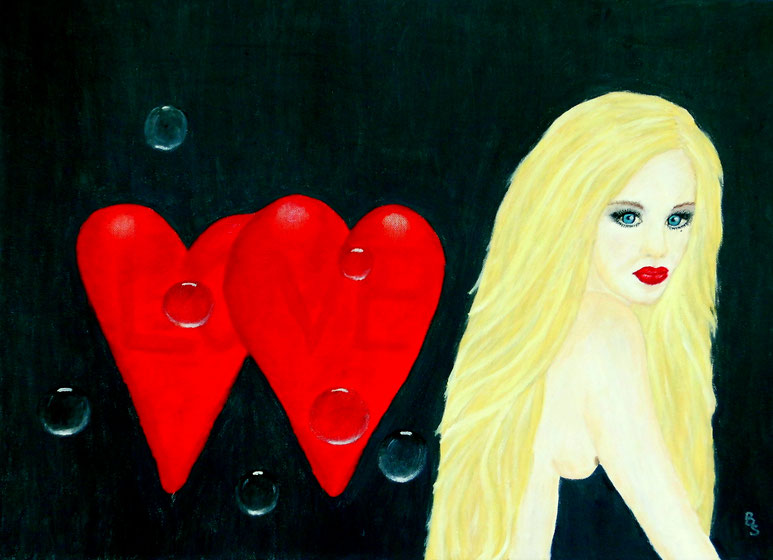 Maja in love, 70*50, 2014