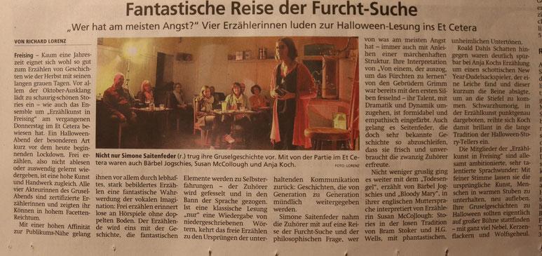 Rezension FreisingerTagblatt vom 02.11.2020