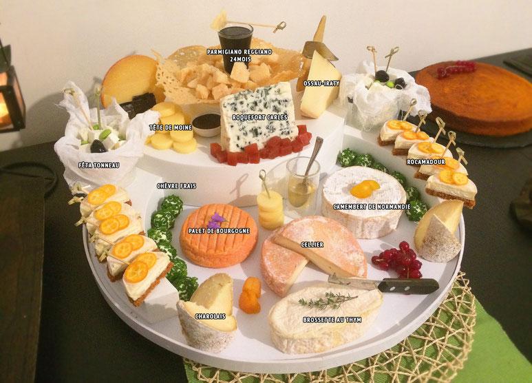 Plateau de 10 fromages, dont 6 AOP minimum à constituer pour les qualif' ...
