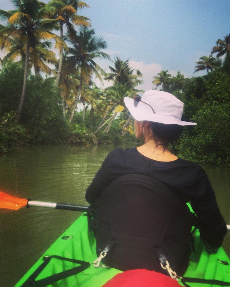 Paddeln durch die Backwaters