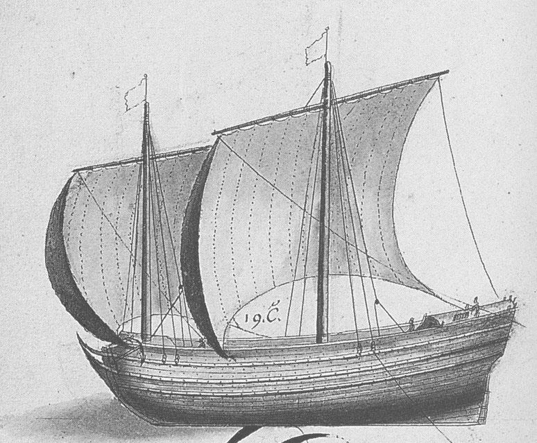 Navire de cabotage du XVII ème siècle