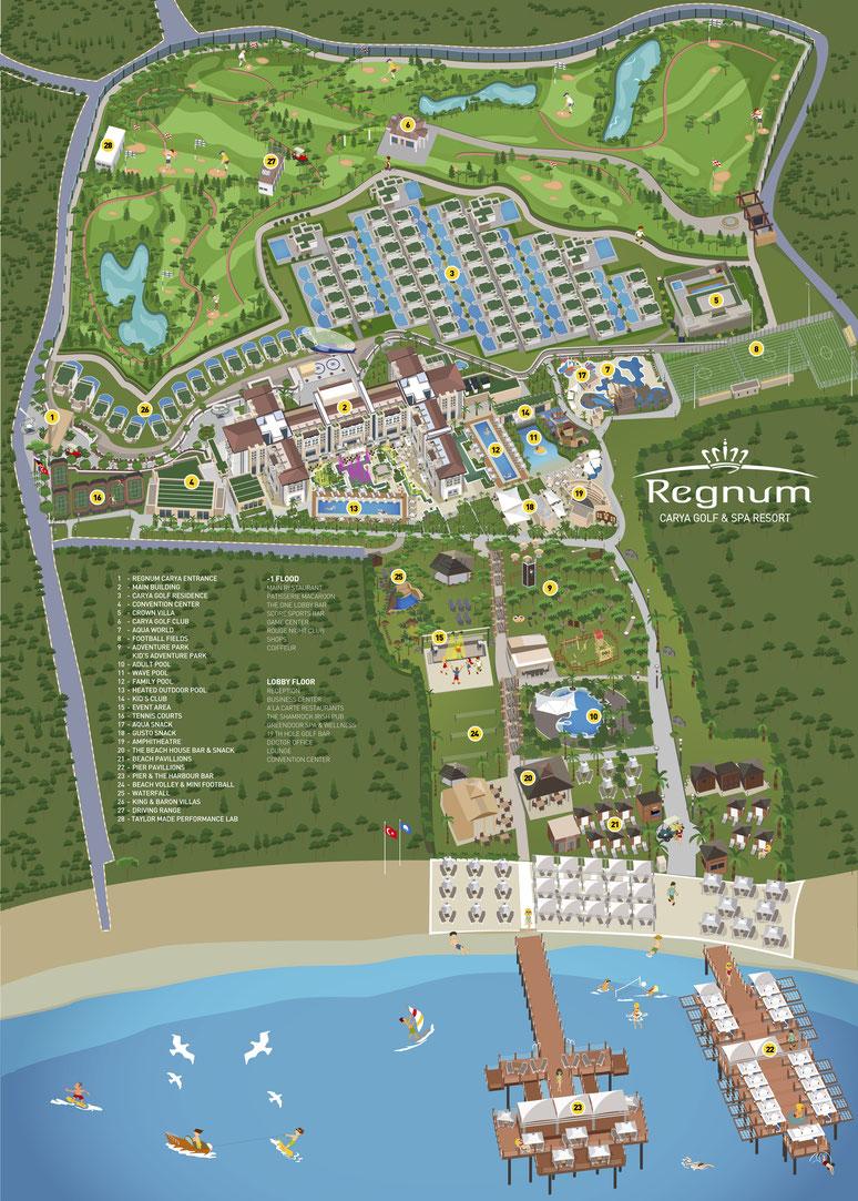 Regnum Carya ★★★★★ Hotel Lageplan
