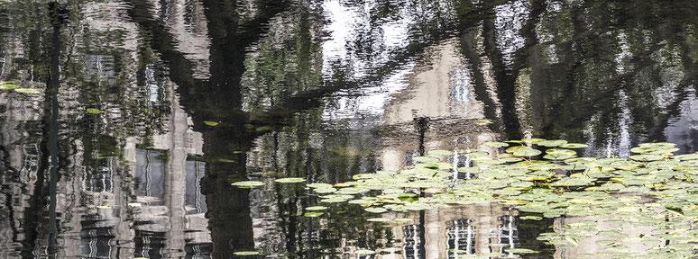 Königsallee als Farbphoto im Panorama-Format
