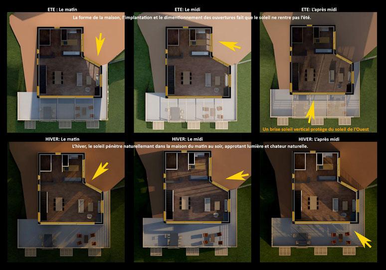 maison contemporaine Villa moderne nice cote d'azur ensoleillement conception apports solaires