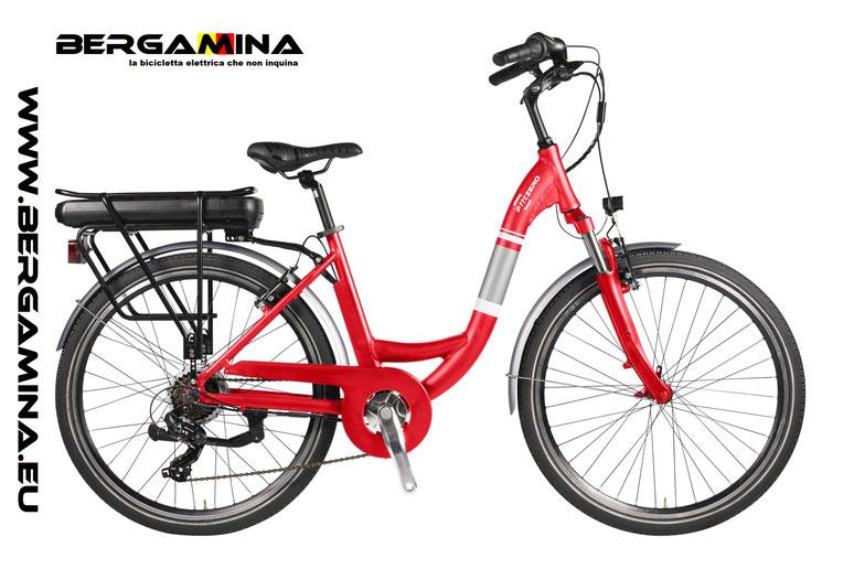 noleggio della bici elettrica Pmzero Bergamina urban2020