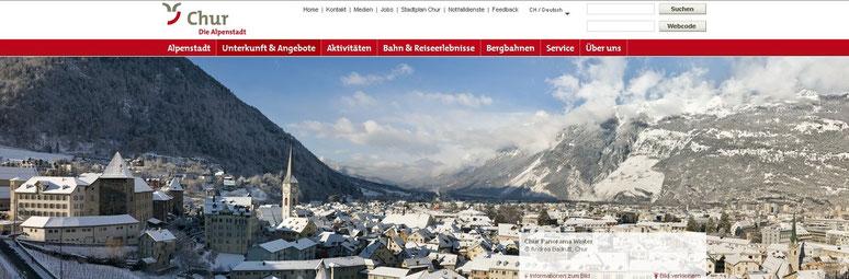 Sowohl für Arosa wie auch Lenzerheide ist  die älteste Schweizerstadt Ausgangspunkt