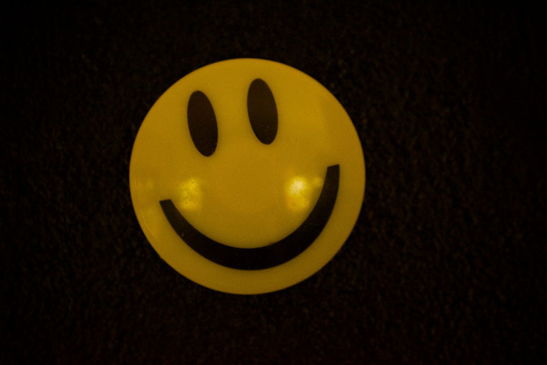 Smiley in der Nacht :-)