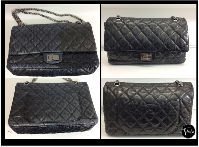 Chanel 2.55 - Lederaufarbeitung, Taschenreparatur, Taschensäuberung