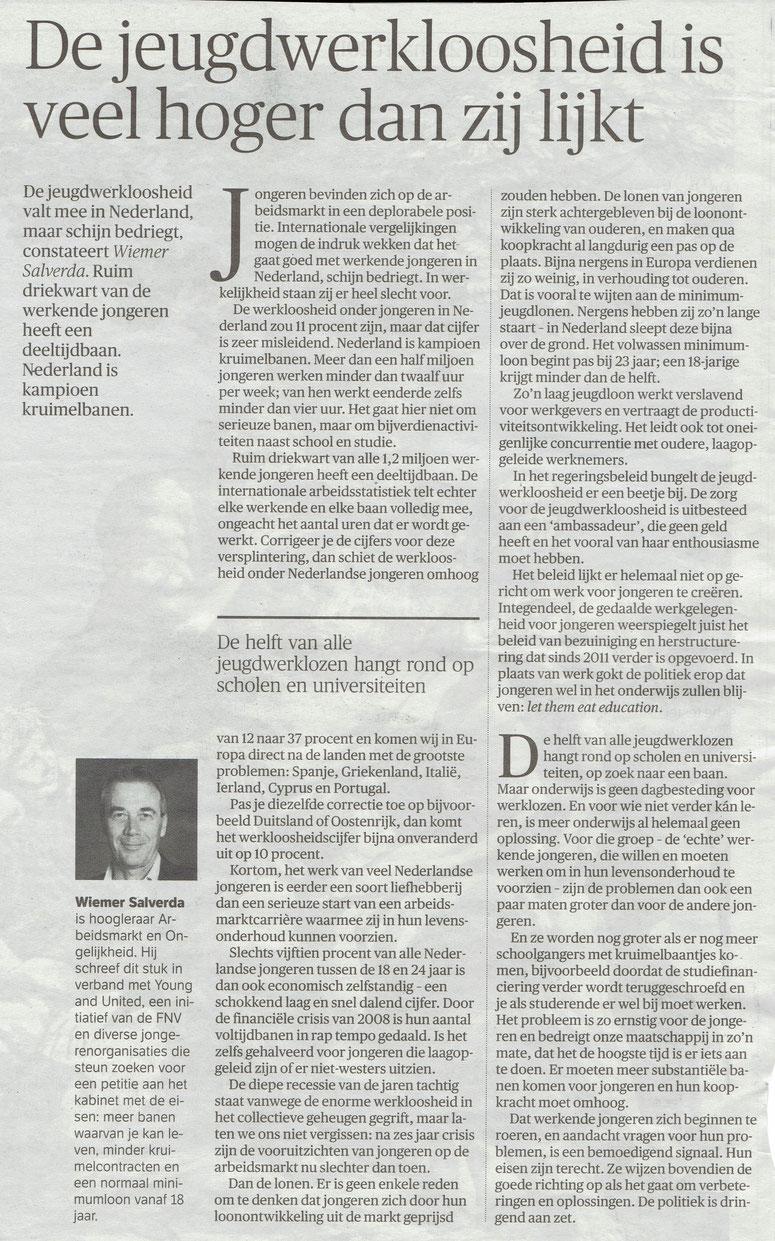Artikel verschenen in NRC Handelsblad d.d. 28 maart 2015