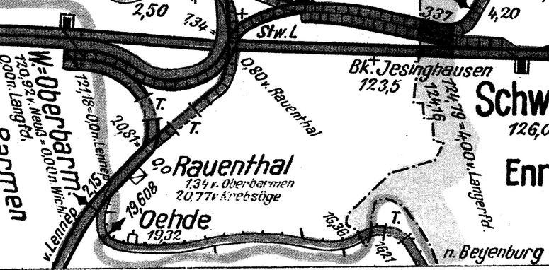 [1] Von Oehde in Richtung Beyenburg finden sich gleich drei Anschlüsse an der freien Strecke.