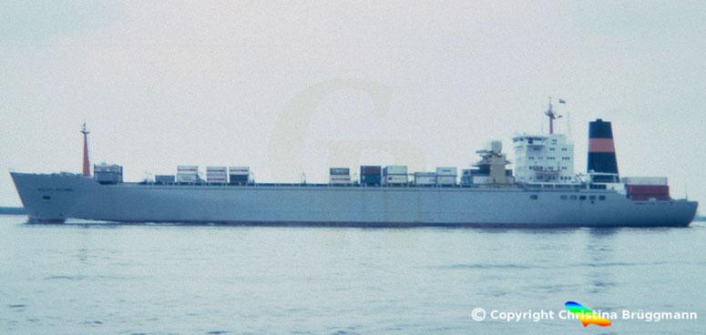 """Nedlloyd Kühlcontainerschiff """"NEDLLOYD HOLLANDIA"""" 1986"""