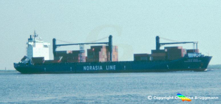 HDW Containerschiff der Zunkunft NORASI SHARJAH,
