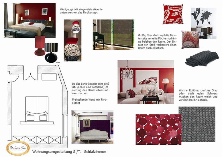 Bild: Schlafzimmer Konzept rot