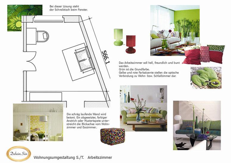Bild: Arbeitszimmer Konzept grün
