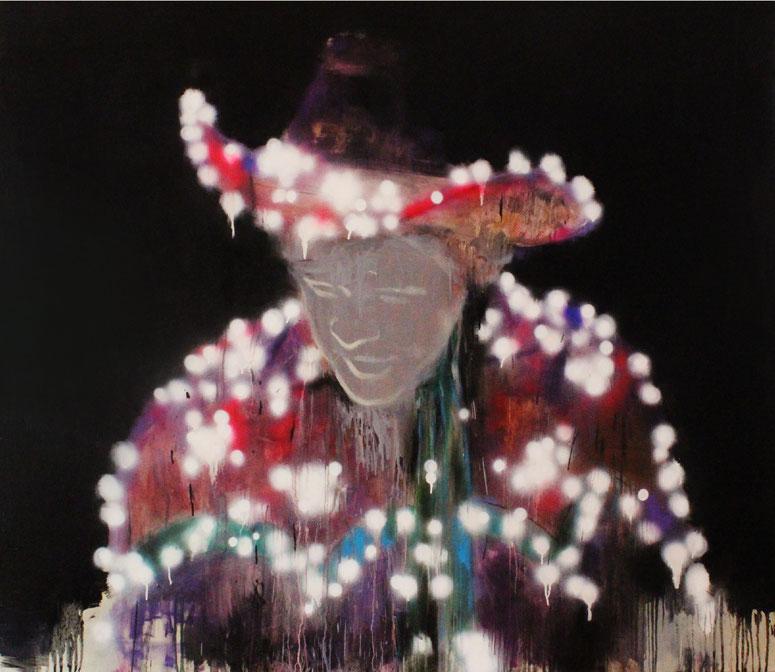 o.T.(Electric Cowboy), Ö/L, 160x140cm, 2013