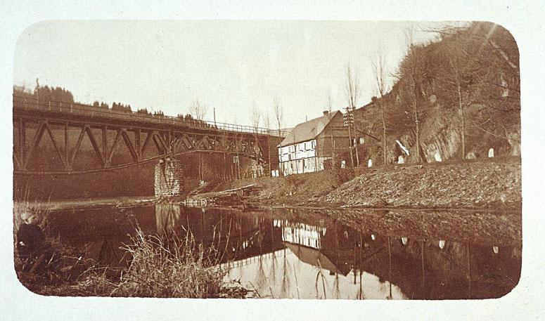Andreas Haus an der Bußschlacht, später Wrede als Besitzer, war früher eine Kaffeewirtschaft für Straßenfuhrleute