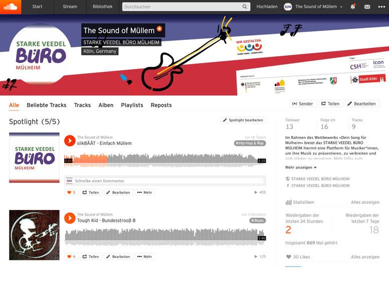 »The Sound of Müllem« Soundcloud-Seite