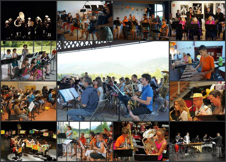 Ecole de musique EMC à Crolles - Grésivaudan : les orchestres de l'Ensemble musical crollois lors de plusieurs concerts.