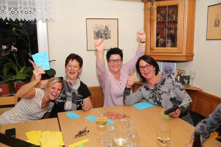 das Team mit Verena, Edith, Ulli u. Monika