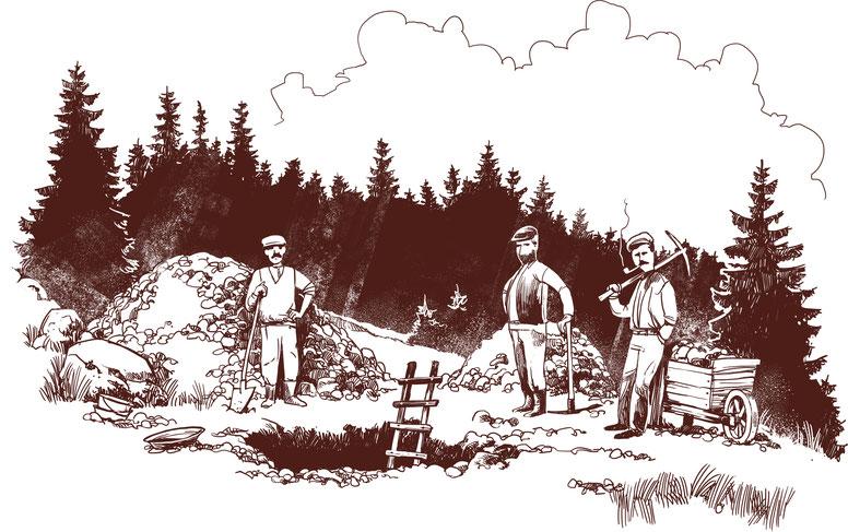 Cercatori d'oro al Dent di Vaulion. Illusi che immaginavano di ridiscendere milionari