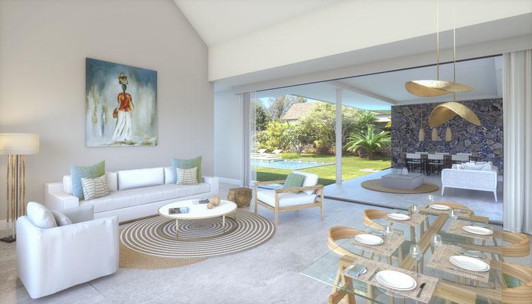 achat villa et maison de plain pied ile maurice tamarin