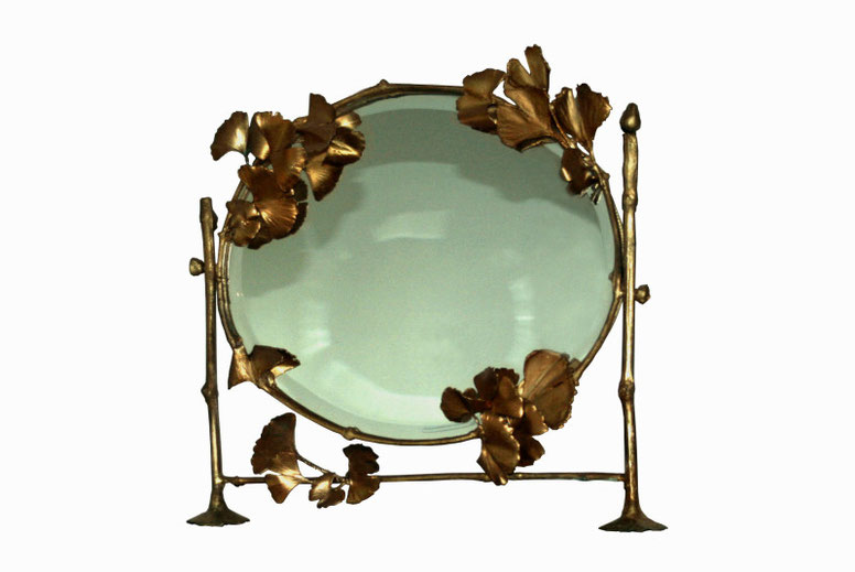 Cheval glass, gilded bronze and mirror, 48 x 43 cm