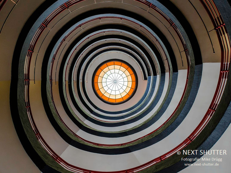 Eines der Treppenhäuser des Sprinkenhofs