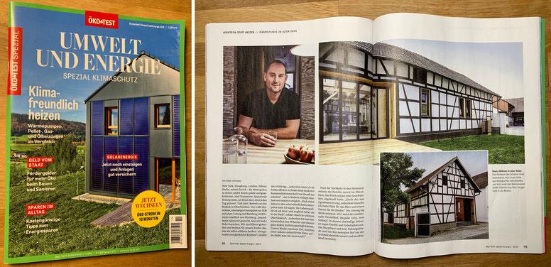 """Veröffentlichung, """"Öko Test Spezial"""" Magazin, Thema """"Nachhaltiges Bauen"""""""