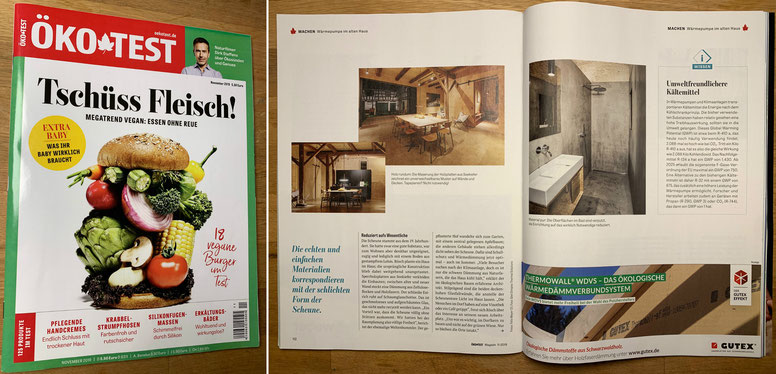 """Veröffentlichung, """"ÖKO TEST"""" Magazin, Titel """"Zurück in die Zukunft"""""""