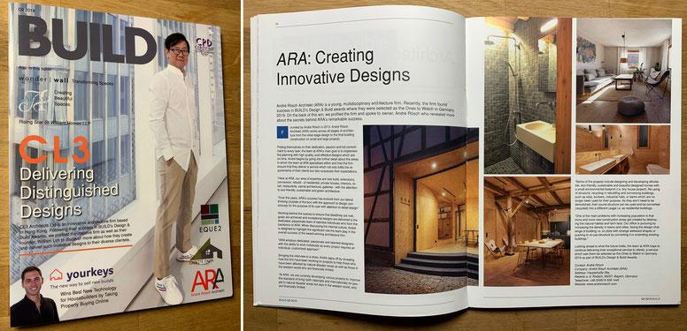 "Veröffentlichung, ""BUILD"" internationales Magazin, Thema ""Creating Innovative Designs"""