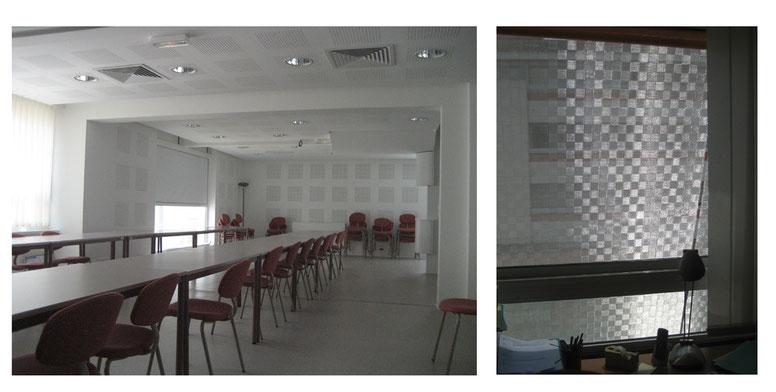 Salle de réunion et maille inox