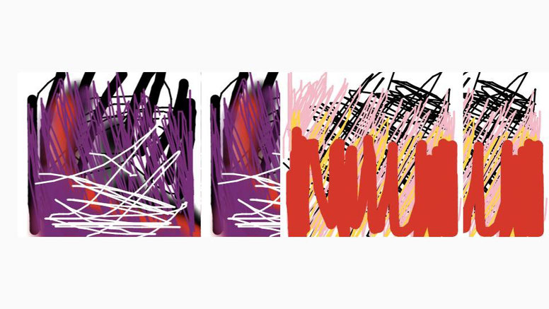 Scribbles made by Anja Christine Roß, 2016